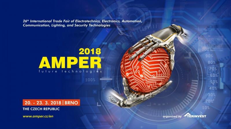 Obiščite nas na sejmu AMPER 2018 Brno od 20. - 23. Marca 2018