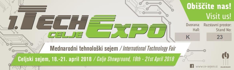TechExpo - International Technology Fair Celje, Slovenia, 18.-21. April 2018